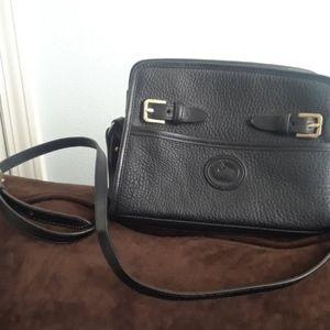 Dooney & Bourke vintage black leather crossbody